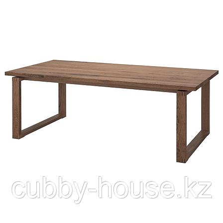 МОРБИЛОНГА Стол, дубовый шпон коричневая морилка, 140x85 см, фото 2