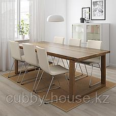 МОРБИЛОНГА Стол, дубовый шпон коричневая морилка, 140x85 см, фото 3