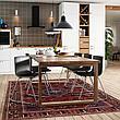 МОРБИЛОНГА Стол, дубовый шпон коричневая морилка, 140x85 см, фото 5
