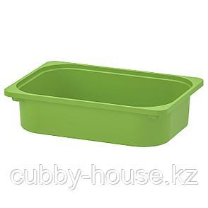 ТРУФАСТ Контейнер, зеленый, 42x30x10 см, фото 2