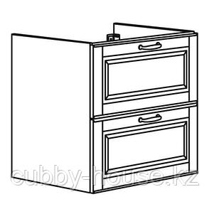 ГОДМОРГОН Шкаф для раковины с 2 ящ, Кашён светло-серый, 60x47x58 см, фото 2