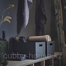 ТЬЕНА Коробка с крышкой, черный, 25x35x20 см, фото 3