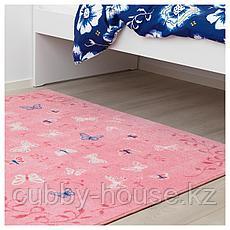 СОНГЛЭРКА Ковер, короткий ворс, бабочка, розовый, 133x160 см, фото 3