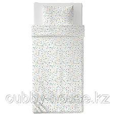 МЁЙЛИГХЕТ Пододеяльник и 1 наволочка, белый, мозаичный орнамент, 150x200/50x70 см, фото 2