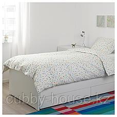 МЁЙЛИГХЕТ Пододеяльник и 1 наволочка, белый, мозаичный орнамент, 150x200/50x70 см, фото 3