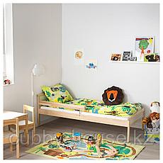 СНИГЛАР Каркас кровати с реечным дном, бук, 70x160 см, фото 3