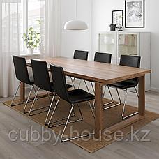 МОРБИЛОНГА Стол, дубовый шпон коричневая морилка, 220x100 см, фото 2
