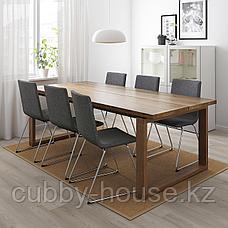 МОРБИЛОНГА Стол, дубовый шпон коричневая морилка, 220x100 см, фото 3