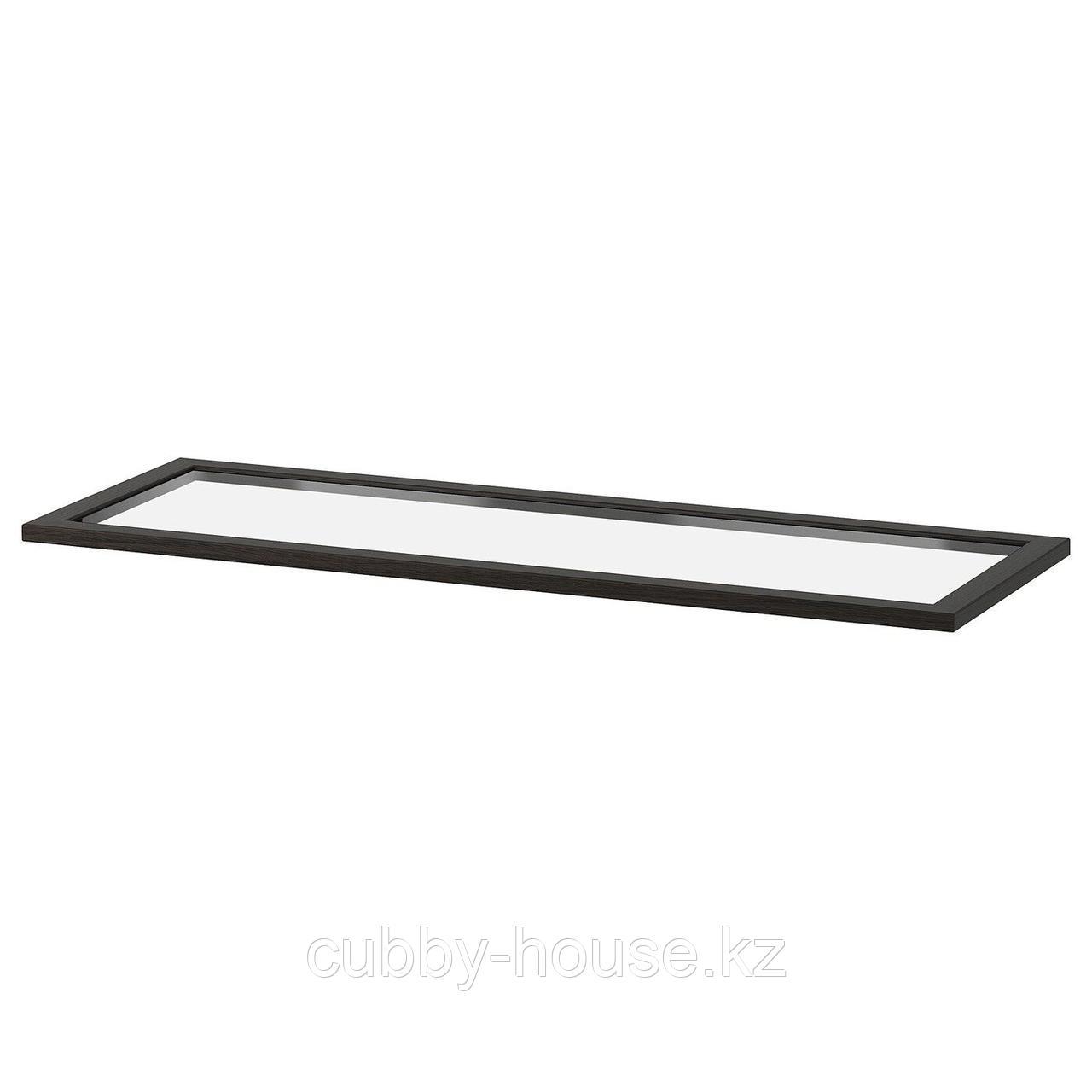 КОМПЛИМЕНТ Полка стеклянная, черно-коричневый, 50x58 см