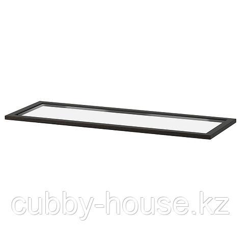 КОМПЛИМЕНТ Полка стеклянная, черно-коричневый, 50x58 см, фото 2