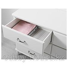 ТИССЕДАЛЬ Комод с 6 ящиками, белый, 127x81 см, фото 3