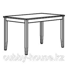 ЛЕРХАМН Стол, светлая морилка антик, белая морилка, 118x74 см, фото 2