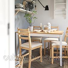ЛЕРХАМН Стол, светлая морилка антик, белая морилка, 118x74 см, фото 3