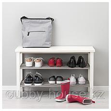ЧУСИГ Скамья с полкой для обуви, белый, 81x50 см, фото 3