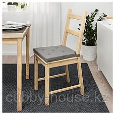 ЮСТИНА Подушка на стул, серый, 35/42x40x4.0 см, фото 3