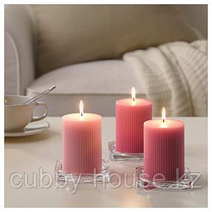 БЛОМДОРФ Формовая свеча, ароматическая, Пион, розовый, 10 см, фото 2