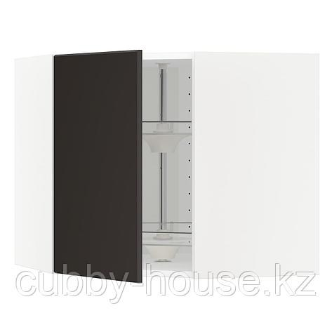 МЕТОД Угл нвсн шкф с вращающ секц, черный, Кунгсбакка антрацит, 68x60 см, фото 2
