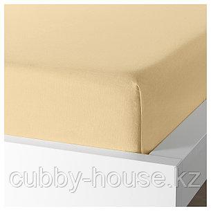 ПУДЕРВИВА Простыня, светло-желтый, 240x260 см, фото 2