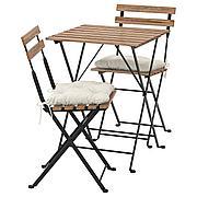 ТЭРНО Стол+2стула,д/сада, черный, светло-коричневая морилка серо-коричневая морилка