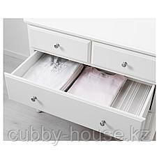 ТИССЕДАЛЬ Комод с 4 ящиками, белый, 87x76 см, фото 2