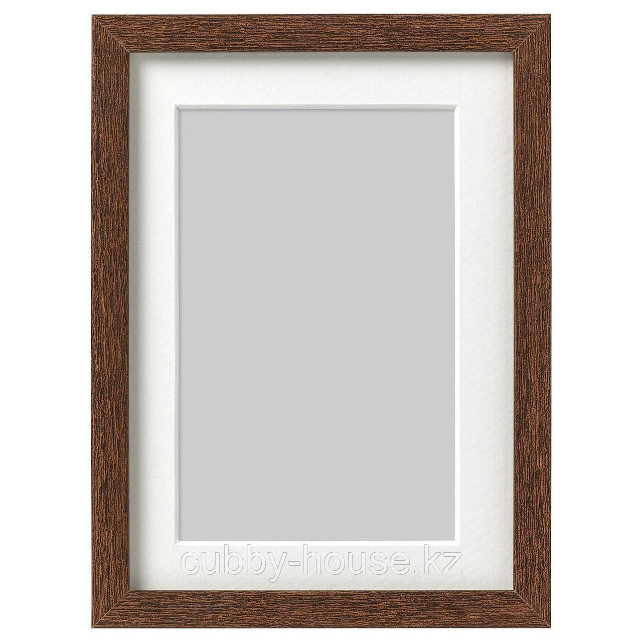 ХОВСТА Рама, классический коричневый, 30x40 см