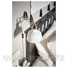 РАНАРП Настенный софит/лампа с зажимом, белый с оттенком, фото 3