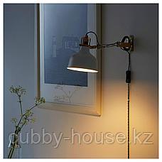 РАНАРП Настенный софит/лампа с зажимом, белый с оттенком, фото 2