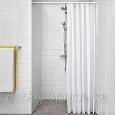 БЬЕРСЕН Штора для ванной, белый, 180x200 см, фото 3