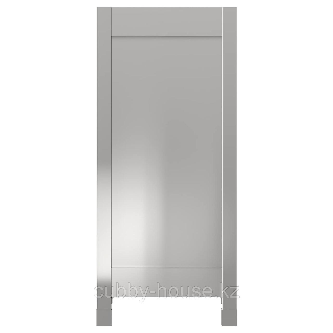 ВОРСТА Накладная панель с ножками, нержавеющ сталь, 62x88 см