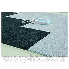 КОНГСТРУП Ковер, длинный ворс, голубой, зеленый, 133x195 см, фото 2