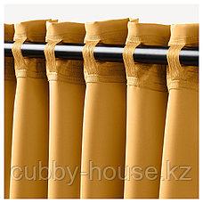 МАЙГУЛЛ Затемняющие гардины, 1 пара, желтый, 145x300 см, фото 2