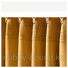 МАЙГУЛЛ Затемняющие гардины, 1 пара, желтый, 145x300 см, фото 3