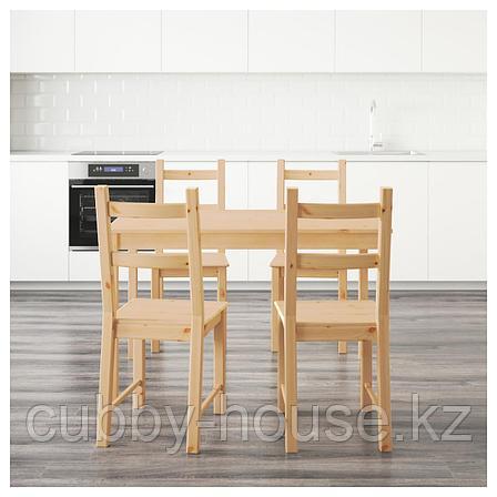 ИНГУ / ИВАР Стол и 4 стула, сосна, 120 см, фото 2
