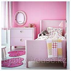 БУСУНГЕ Комод с 2 ящиками, светло-розовый, 80x75 см, фото 3