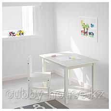 СУНДВИК Стол детский, белый, 76x50 см, фото 3