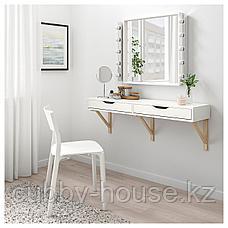 ЭКБИ АЛЕКС Полка с ящиками, белый, 119x29 см, фото 3
