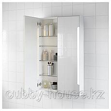 СТОРЙОРМ Зеркальн шкафчик/2дверцы/подсветка, белый, 60x14x96 см, фото 2