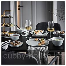 КРУСТАД Тарелка десертная, светло-серый, 16 см, фото 3