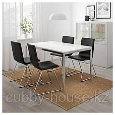 ТОРСБИ Стол, хромированный, глянцевый белый, 135x85 см, фото 2