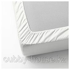 НАТТЭСМИН Простыня натяжная, белый, 90x200 см, фото 3