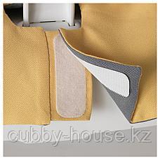 ЛАНГУР Мягкий чехол высокого стульчика, желтый, фото 2