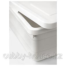 СОККЕРБИТ Контейнер с крышкой, белый, 38x25x15 см, фото 2