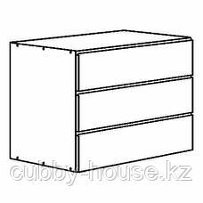 ИВАР Комод с 3 ящиками, сосна, 80x57 см, фото 2