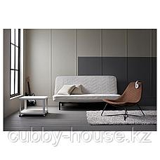 ТИНГБИ Стол приставной на колесиках, белый, 64x64 см, фото 3