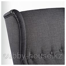 СТРАНДМОН Кресло с подголовником, Шифтебу темно-серый, фото 2