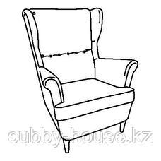 СТРАНДМОН Кресло с подголовником, Шифтебу коричневый, фото 3