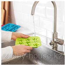 ПЛАСТИС Формочка для льда, зеленый/розовый, бирюзовый, фото 3