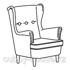 СТРАНДМОН Кресло детское, Висле серый, фото 3