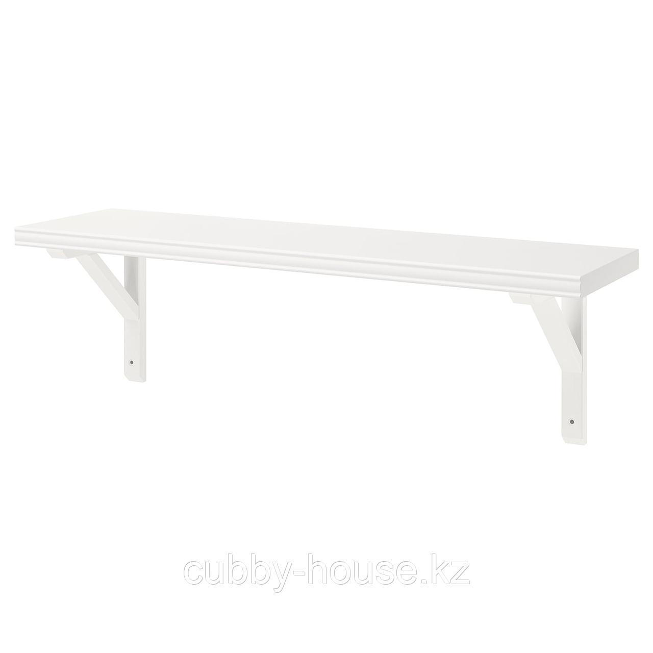 БЕРГСХУЛЬТ / САНДСХУЛЬТ Полка навесная, белый, осина, 80x20 см
