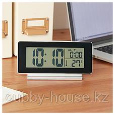 ФИЛЬМИС Часы/термометр/будильник, черный, фото 3